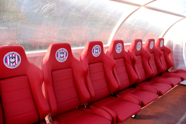 soccer Bench with bucket seats